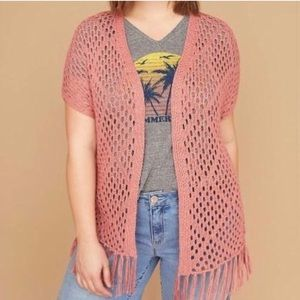 Lane Bryant Crochet Overpiece Cardigan 22/24